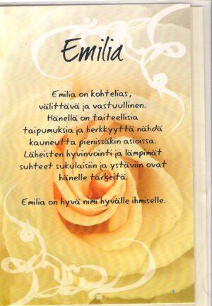 emilia nimikortti