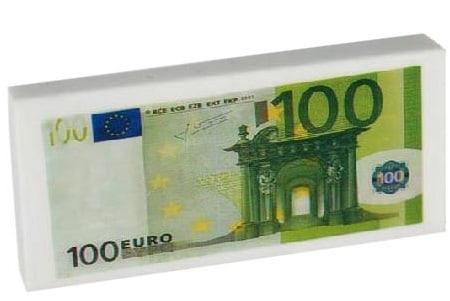 100 euro pyyhekumi